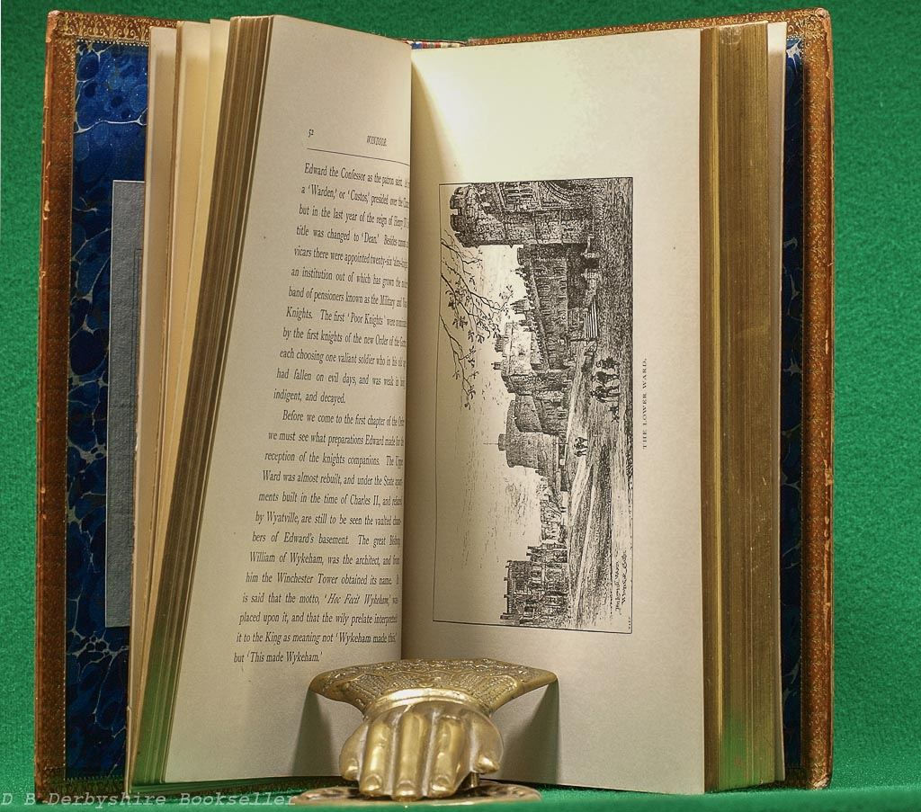 Windsor Castle | W. J. Loftie | Seeley & Co., 1887 | Jubilee Edition | Leather Binding in Box