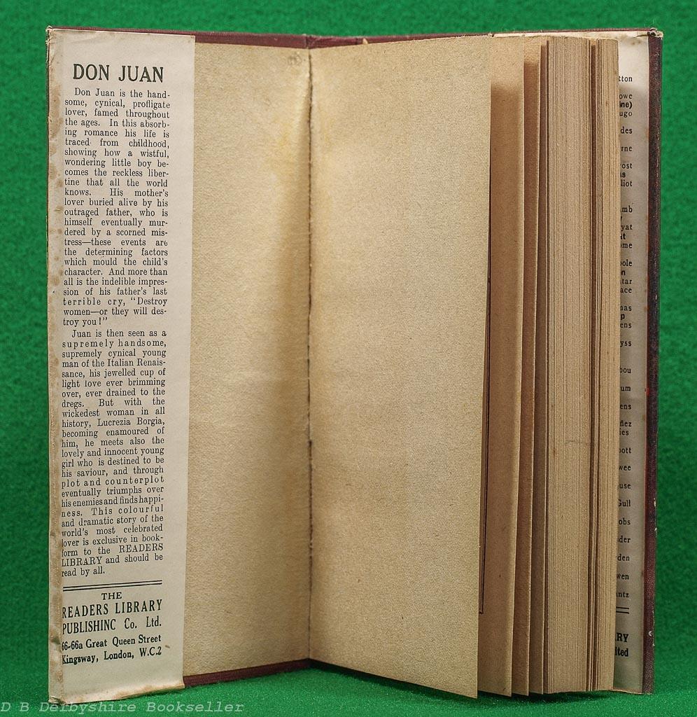 Don Juan | Inez Sabastien | Readers Library, circa 1927 | John Barrymore
