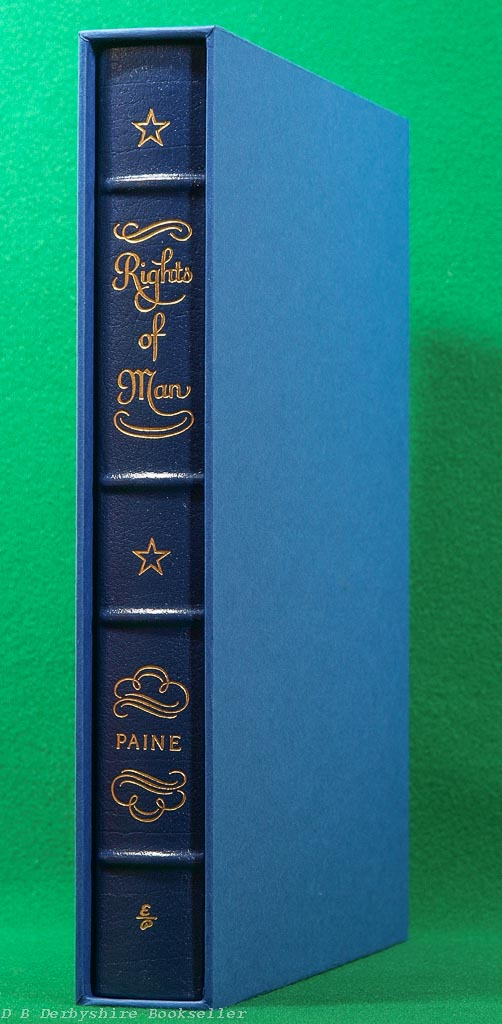 Rights of Man by Thomas Paine (Easton Press, 1989) Decorative Leather Binding in Slipcase