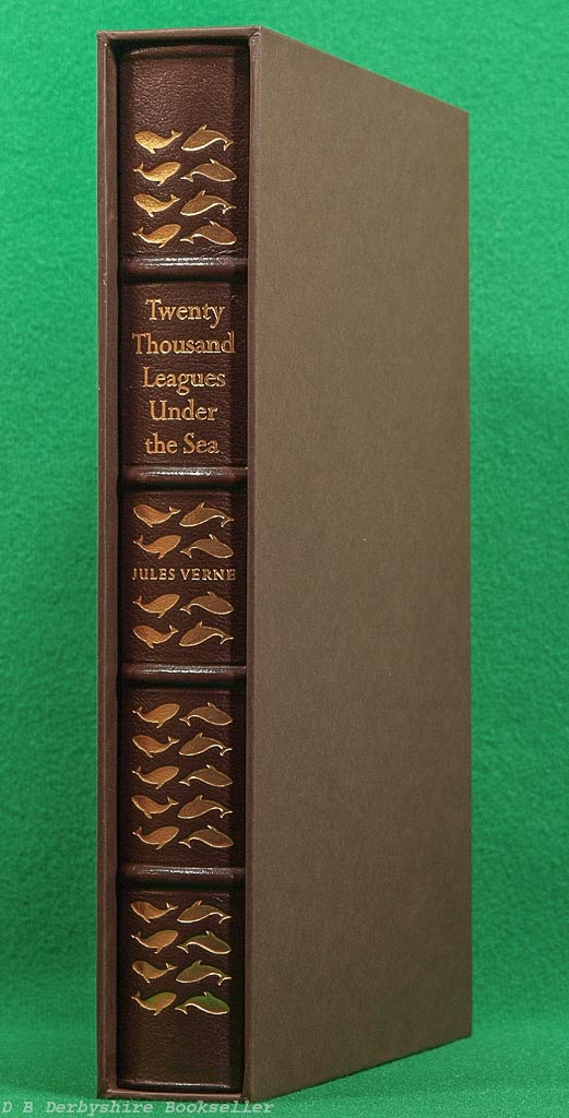 Twenty Thousand Leagues under the Sea by Jules Verne (Easton Press, 1984) Decorative Leather Binding in Slipcase