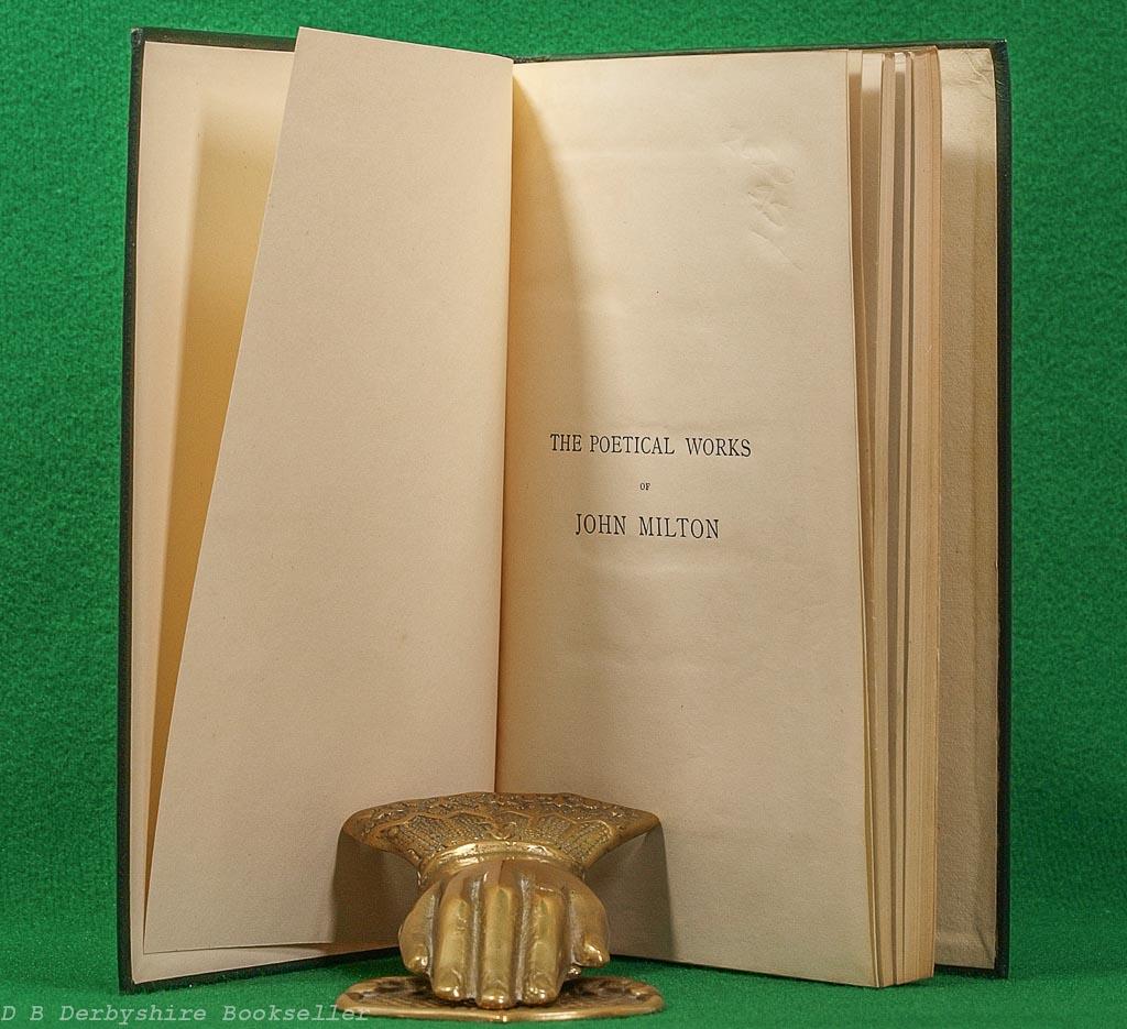 Poetical Works of John Milton | Oxford, 1921 | Full Leather Binding