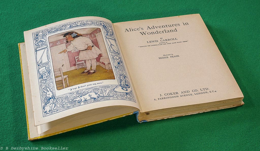 Alice's Adventures in Wonderland | J. Coker, 1933 | illustrated by Bessie Pease and G. P. Micklewright