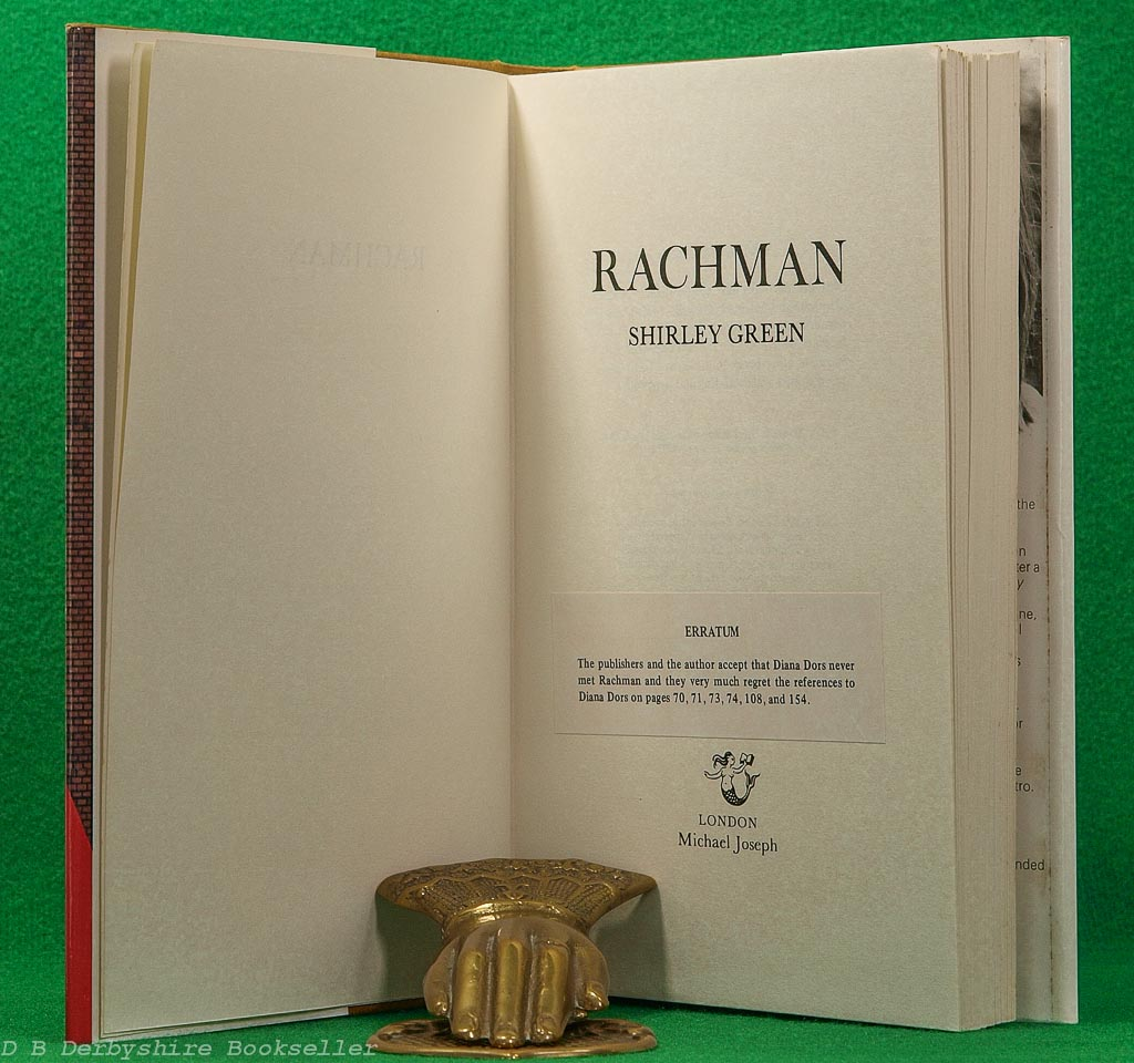 Rachman by Shirley Green | Michael Joseph, 1st edition 1979 | Peter Rachman