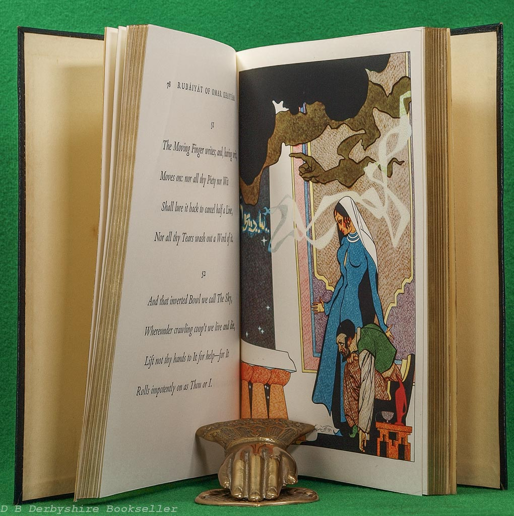 Rubaiyat of Omar Khayyam | Collins, reprint 1961 | illustrated by Robert Stewart Sherriffs | Leather Binding in Box