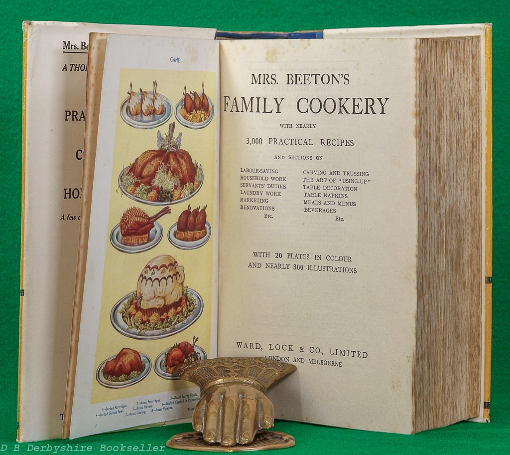 Mrs Beeton's Family Cookery | Ward, Lock & Co. Ltd, revised edition [No Date] circa 1936/37 | with dustwrapper