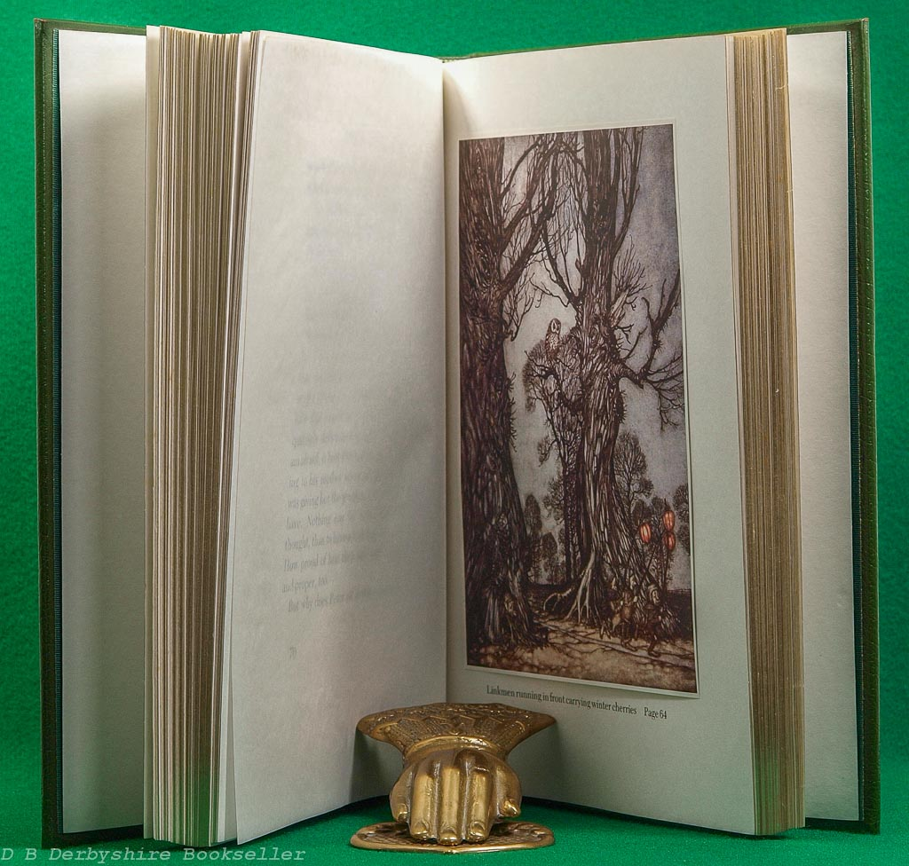 Peter Pan in Kensington Gardens | Hodder & Stoughton, 1984 | Limited Edition | Leather Binding in Slipcase | illustrated by Arthur Rackham