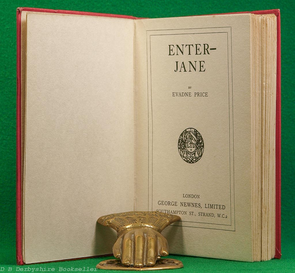 Enter-Jane | Evadne Price | George Newnes, 1st editon [1932]