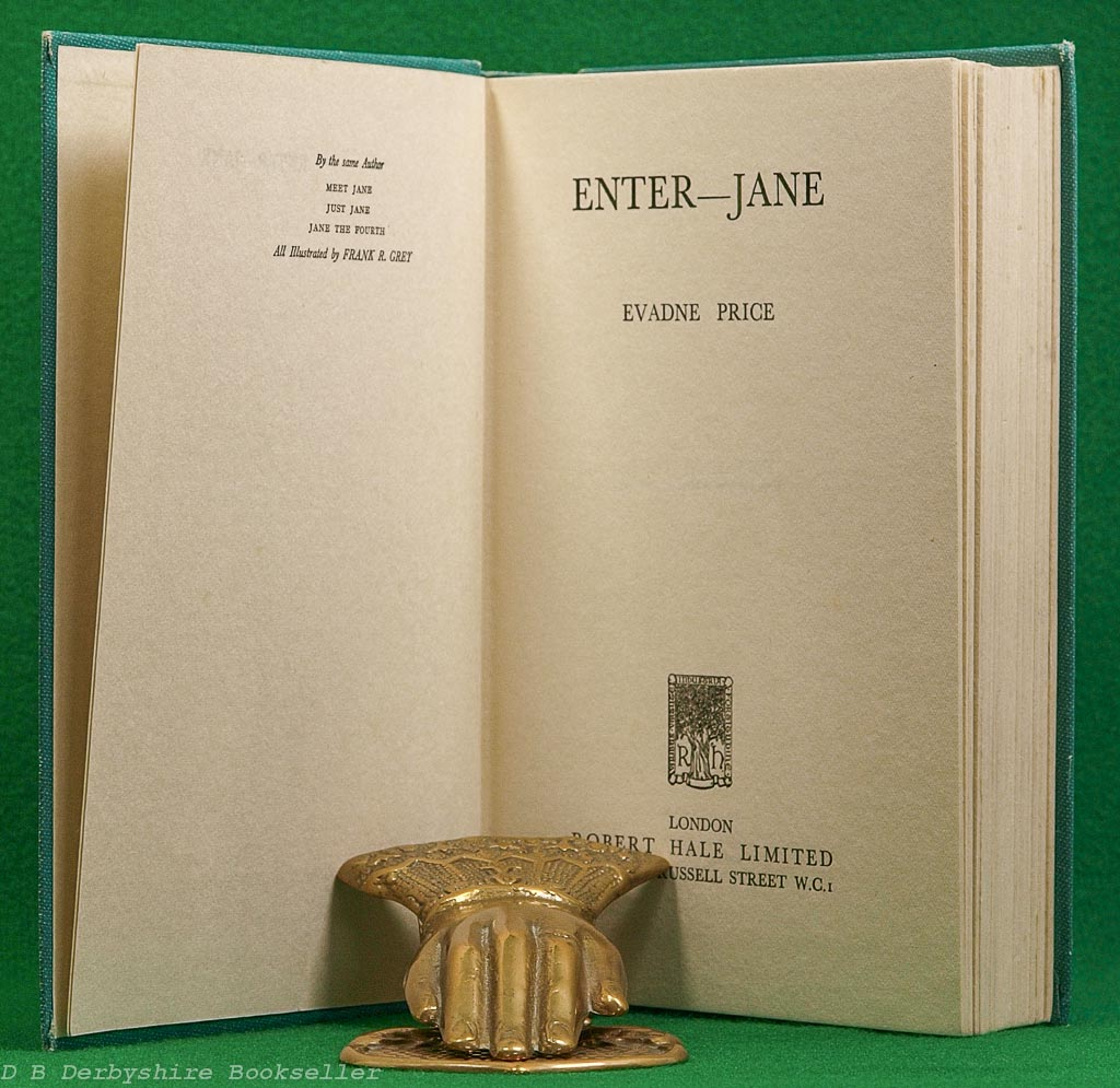 Enter-Jane | Evadne Price | Robert Hale, 1937 | illustrated by Frank R. Grey