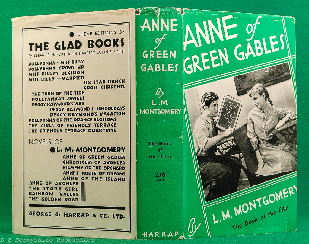Anne of Green Gables | L. M. Montgomery | Harrap, reprint 1935 | The Book of the Film | Dustwrapper