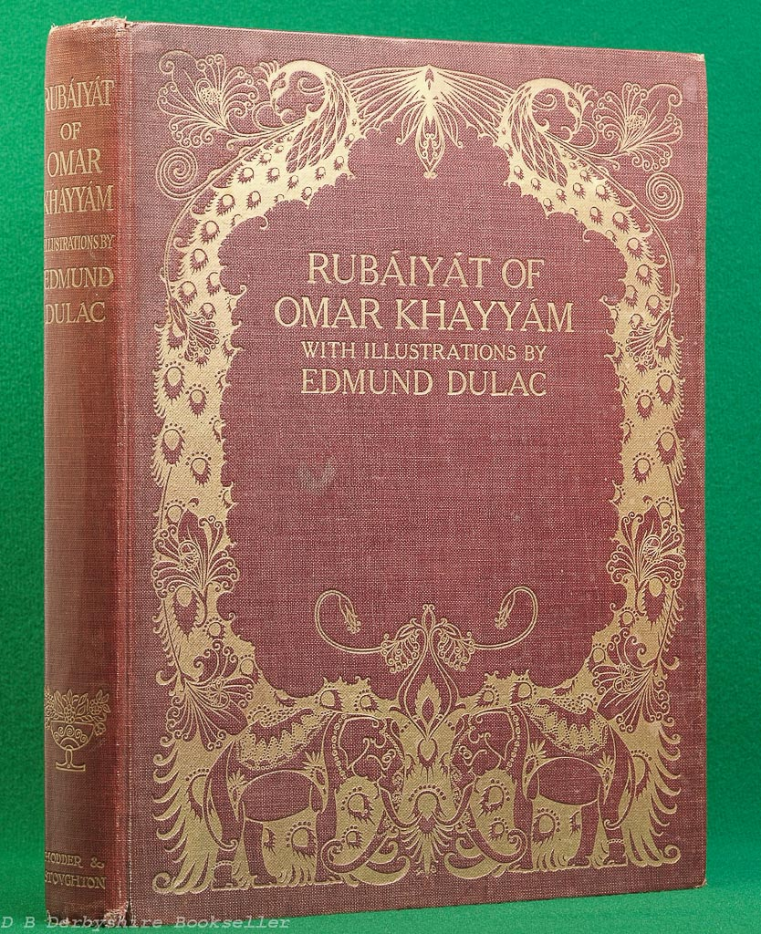 Rubaiyat of Omar Khayyam | Hodder and Stoughton, 1919 | Illustrated by Edmund Dulac | Twenty Plates | Red Cloth