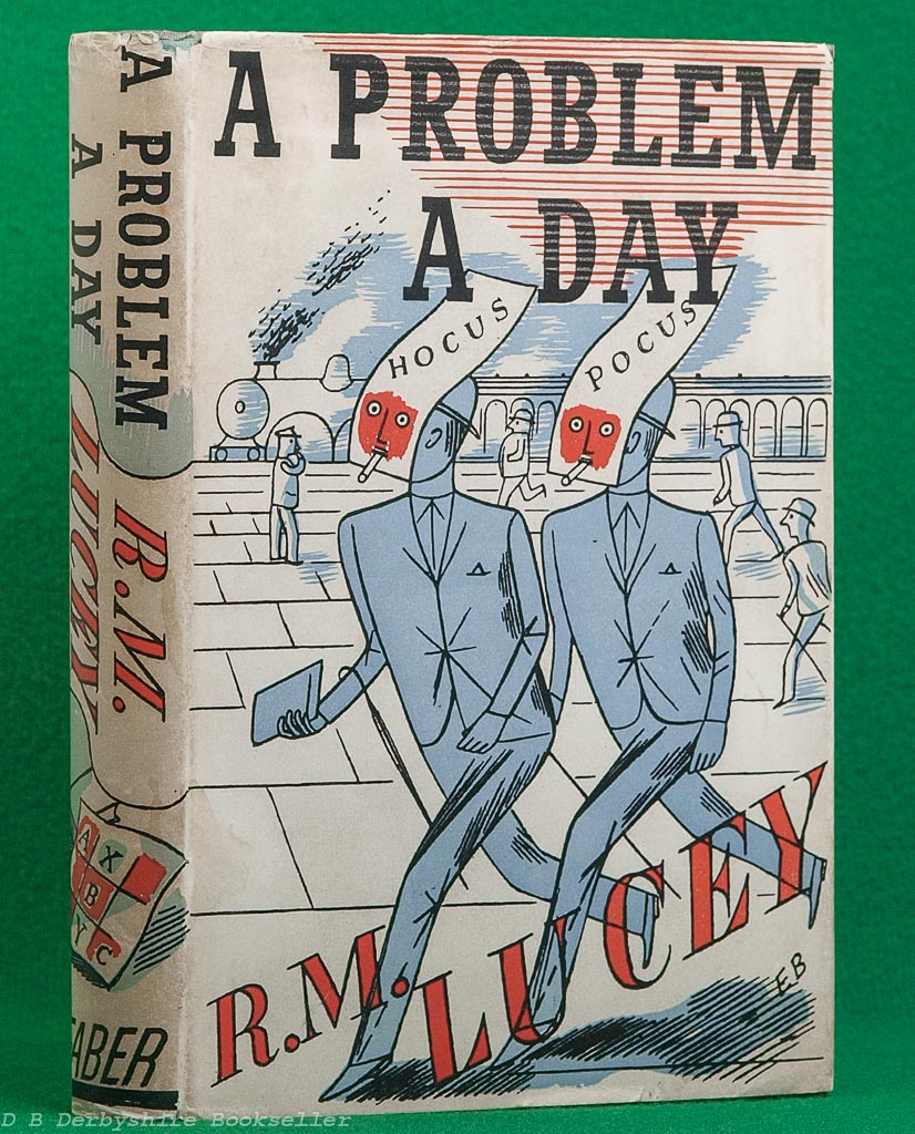 A Problem a Day | Faber, 1937 | Dustwrapper by Edward Bawden