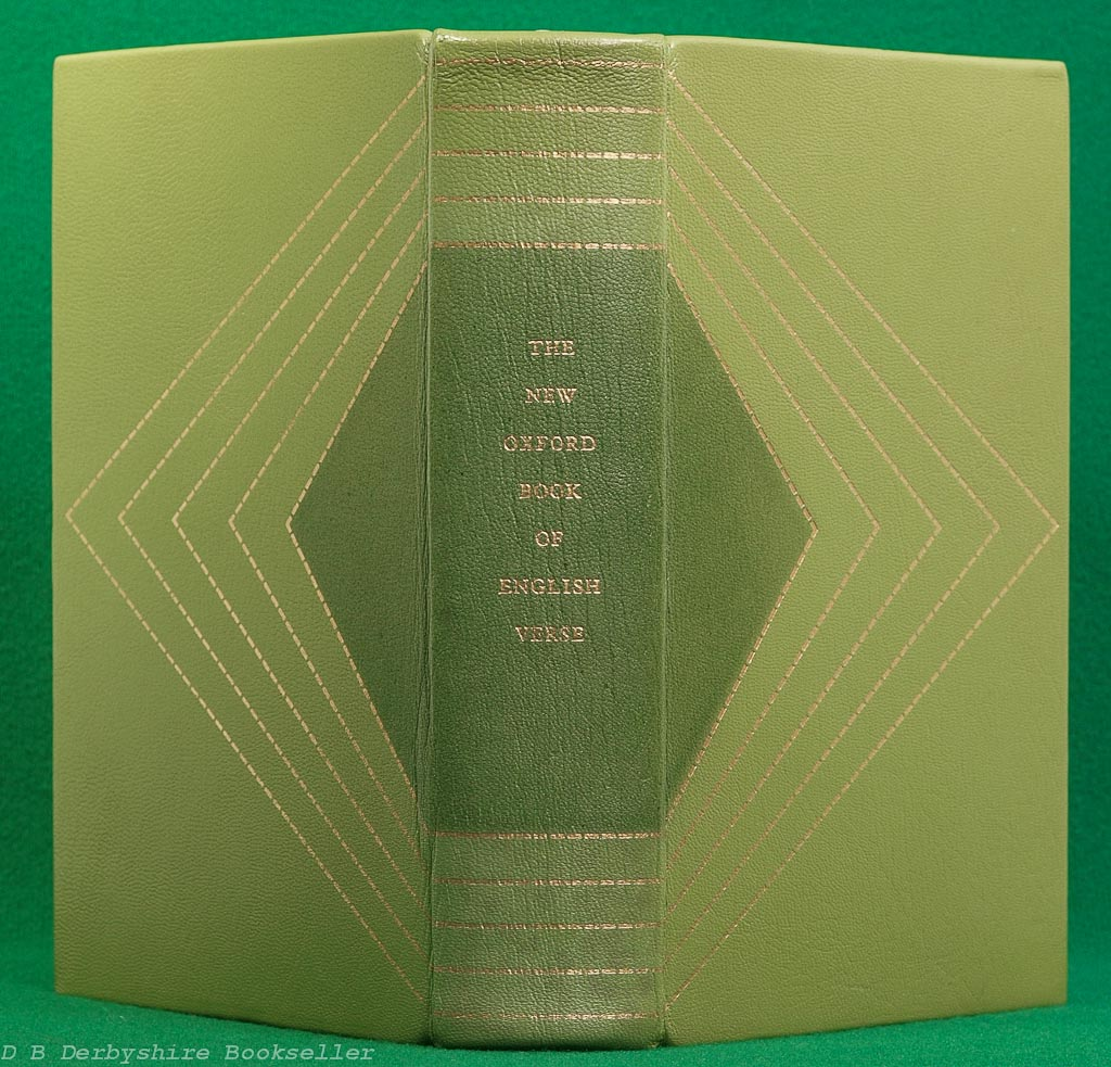 The New Oxford Book of English Verse |Oxford, reprint 1975 | Folio Society Special Publication | Leather Binding