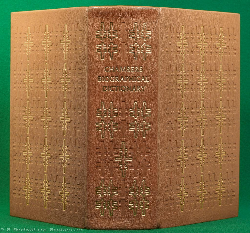 Chambers Biographical Dictionary | Chambers, revised edition 1974 | Folio Society | Leather Binding