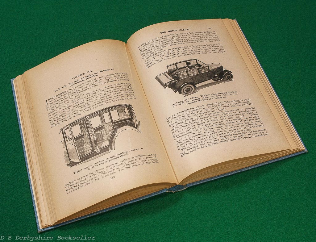 The Motor Manual | Temple Press, 1931 | 28th edition | with dustwrapper and bookmark