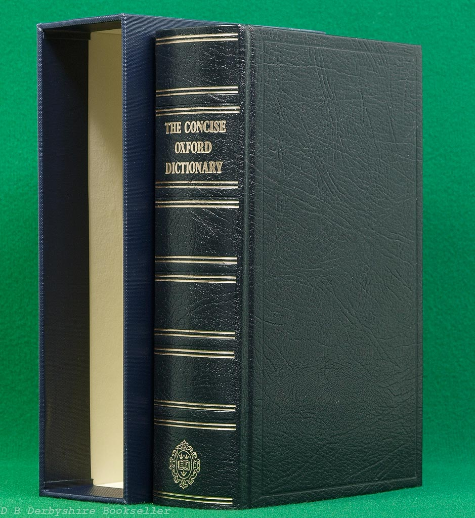 The Concise Oxford Dictionary | Oxford University Press, 1985 | Deluxe Gift Edition | Full Leather
