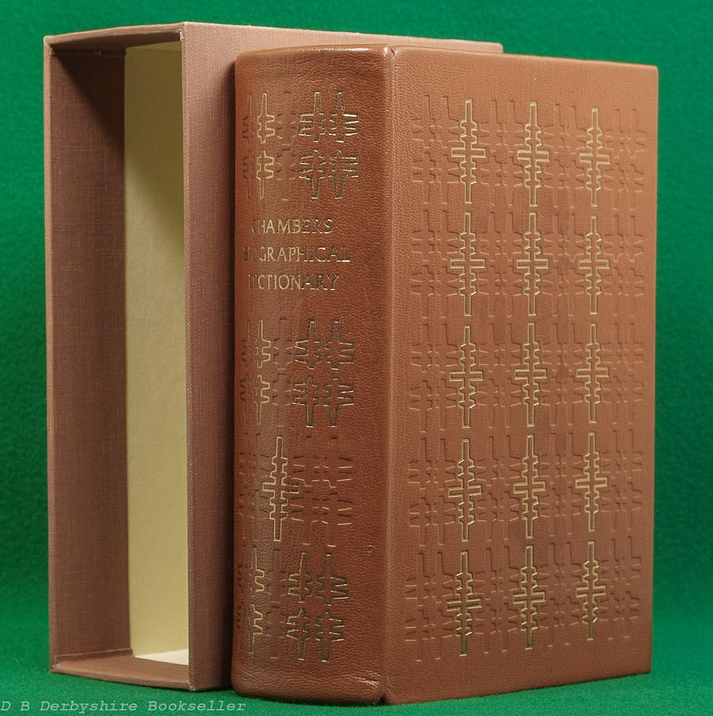 Chambers Biographical Dictionary | revised edition, 1974 | Folio Society | Leather