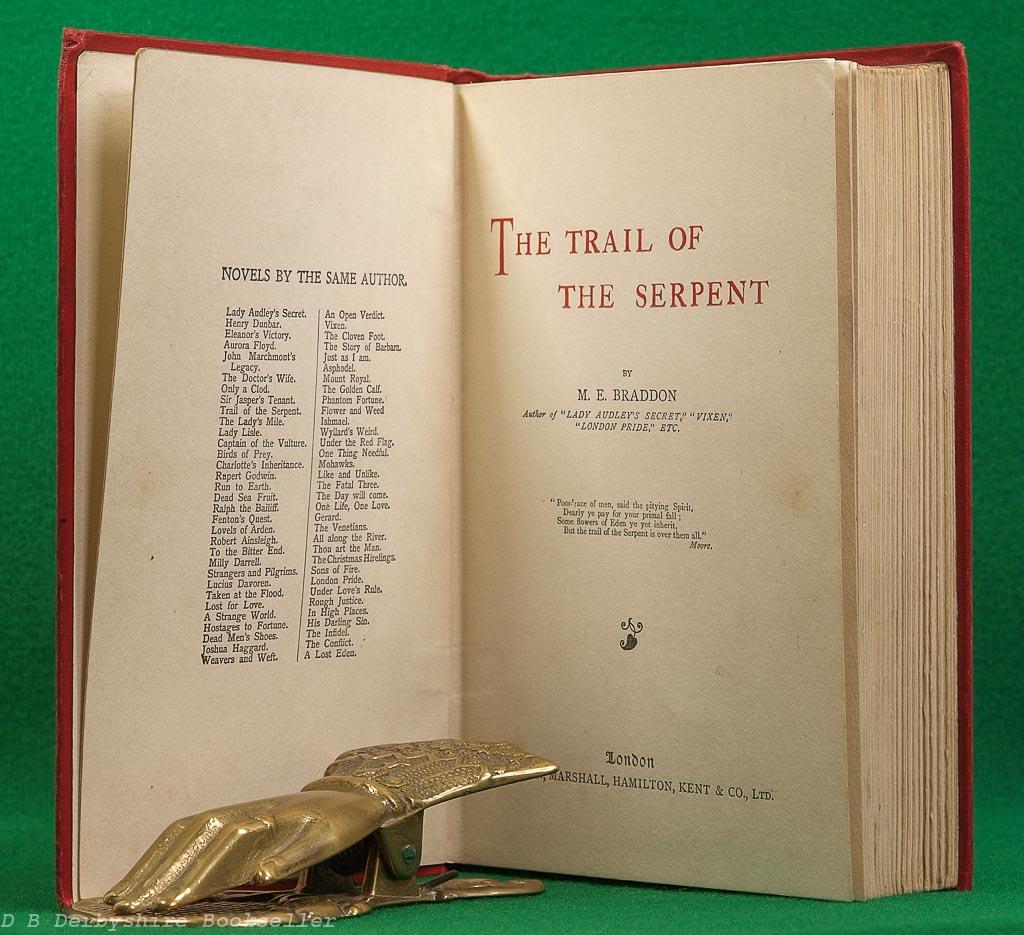 Trail of the Serpent | M. E. Braddon | Simpkin, Marshall, Hamilton, Kent & Co. Ltd, circa 1904