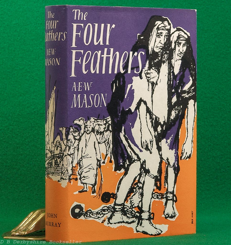 The Four Feathers by A. E. W. Mason | John Murray, 1959 | dustwrapper by Dick Hart