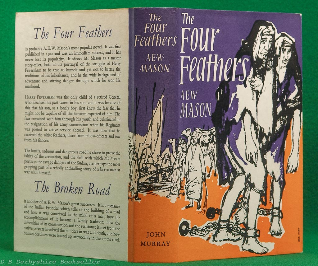 The Four Feathers   A. E. W. Mason   John Murray, reprint 1959   dustwrapper by Dick Hart