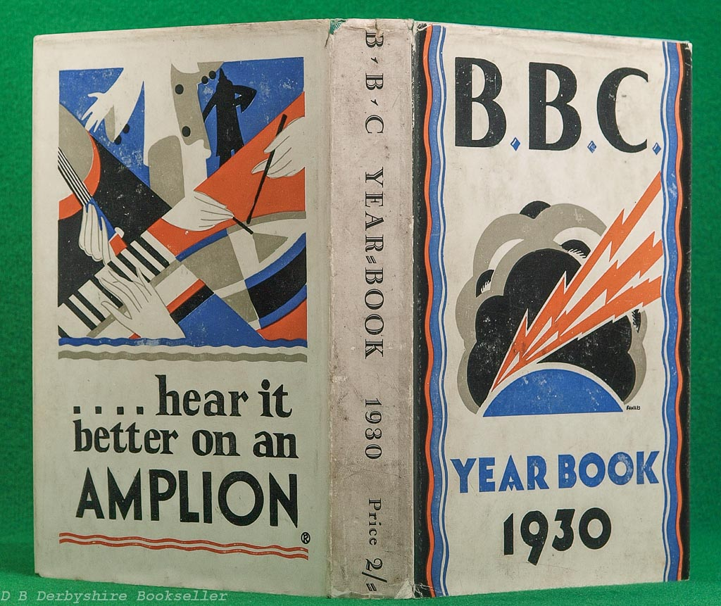 BBC Year-Book 1930 | The British Broadcasting Corporation, 1930 | dustwrapper by Irene Fawkes