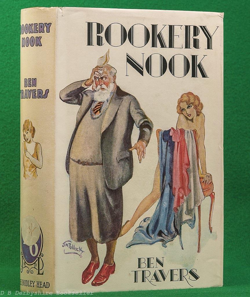 Rookery Nook | Ben Travers | The Bodley Head, reprint 1937 | dustwrapper by J. M. Pollock