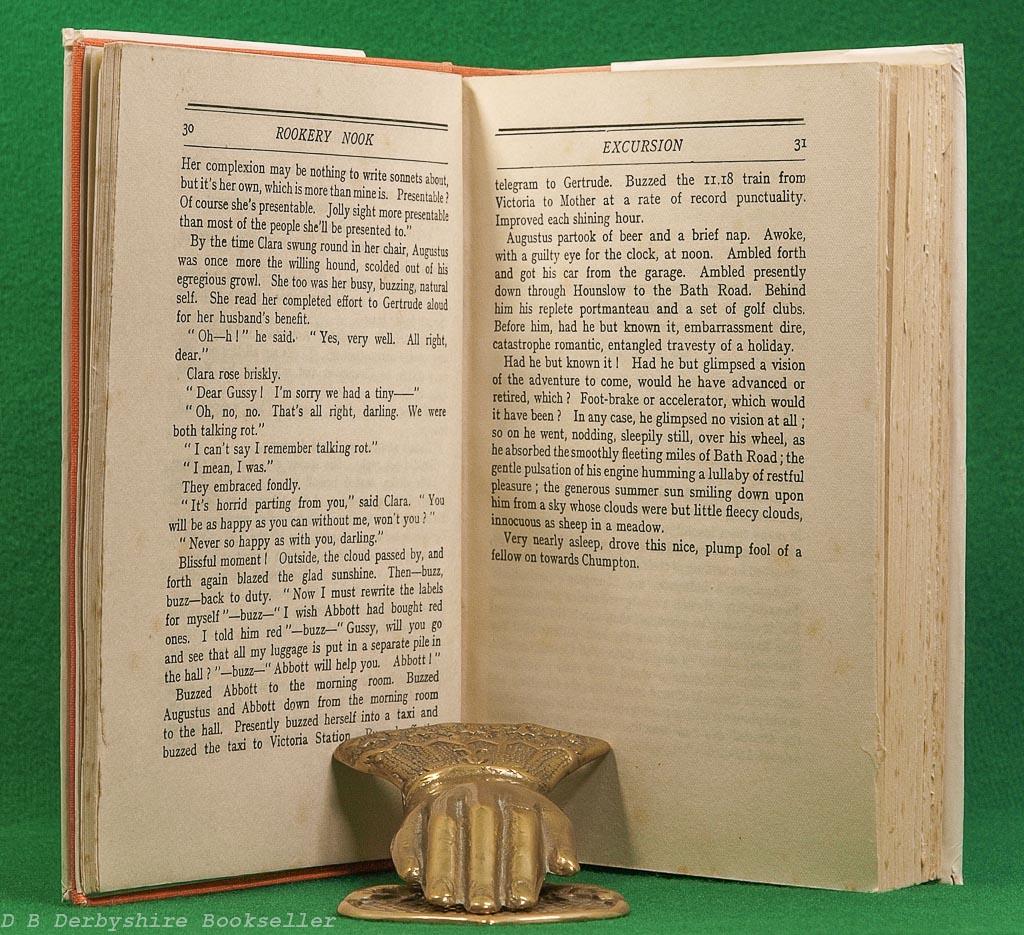 Rookery Nook   Ben Travers   John Lane The Bodley Head, reprint 1937   J. M. Pollock dustwrapper