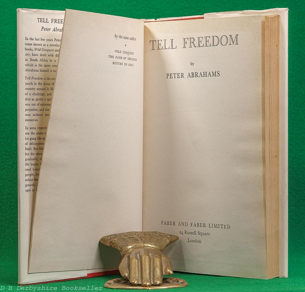 Tell Freedom | Peter Abrahams | Faber, 1st edition 1954 | dustwrapper by Berthold Ludwig Wolpe | BLW