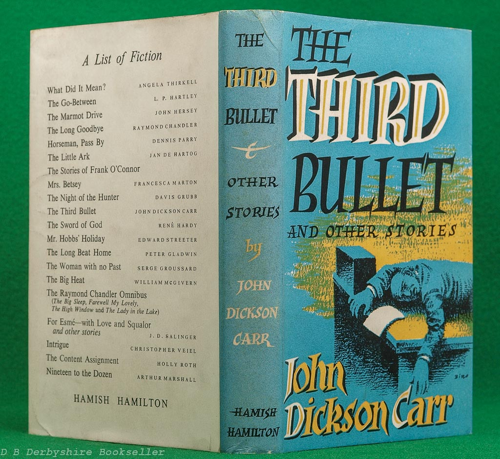 The Third Bullet | John Dickson Carr | Hamish Hamilton, 1st edition 1954 | dustwrapper by Val Biro