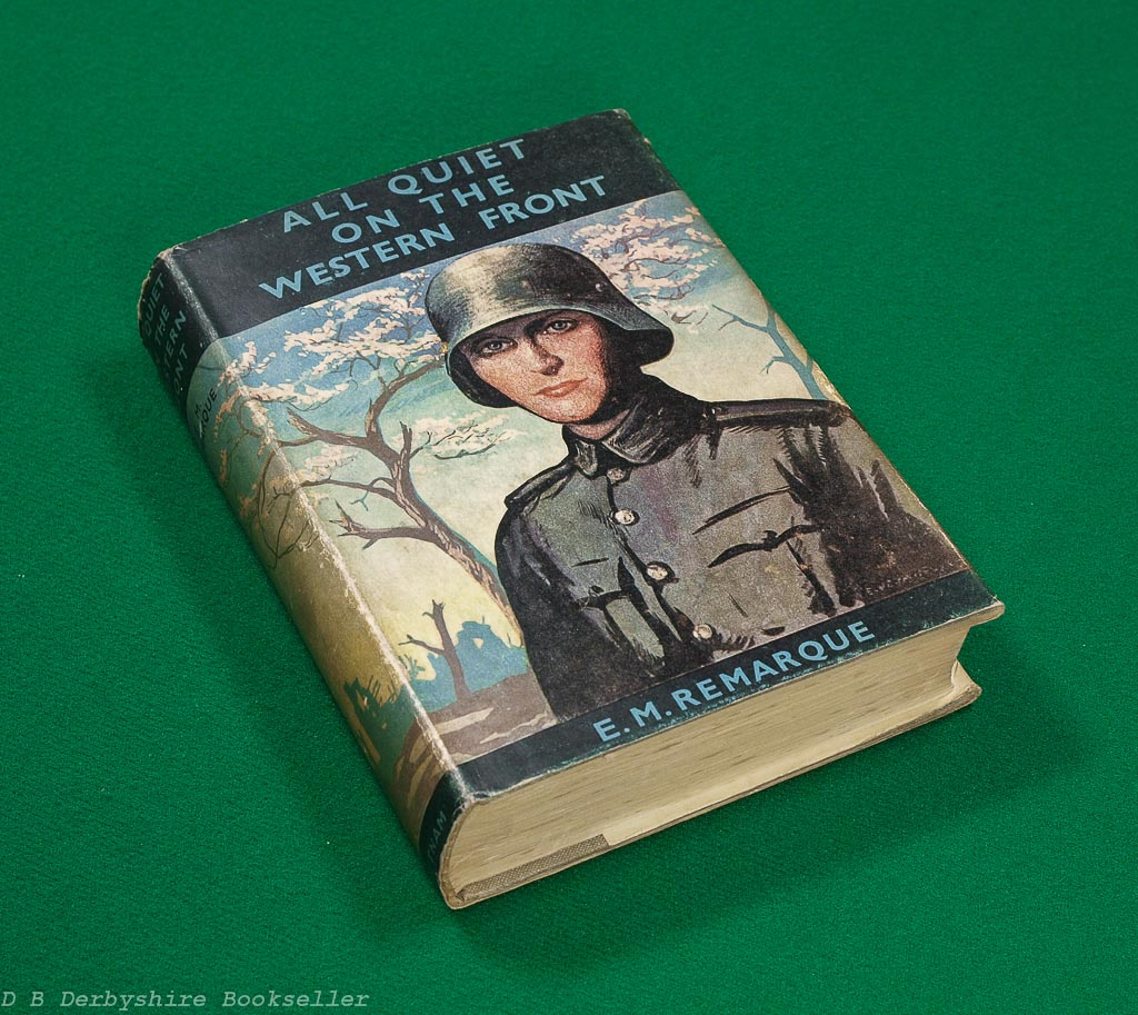 All Quiet on the Western Front E. M. Remarque (Putnam, circa 1937) with dustwrapper
