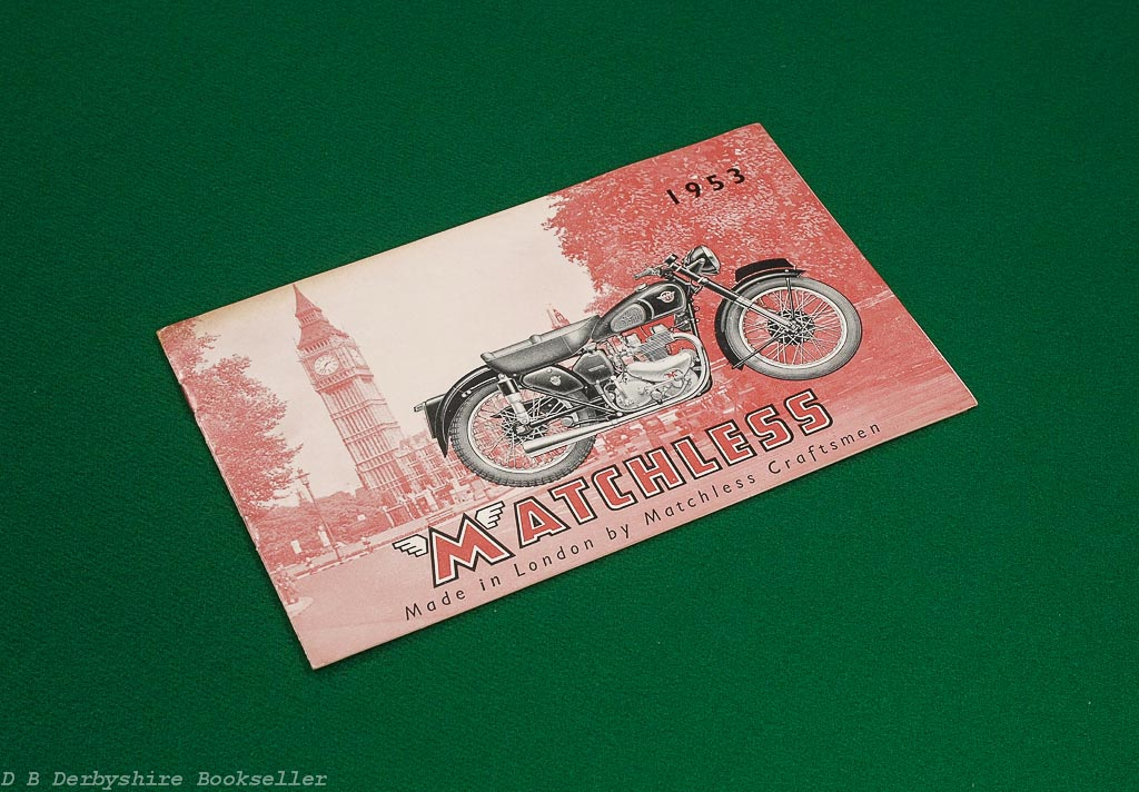 Matchless Motor Cycles 1953 Sales Brochure