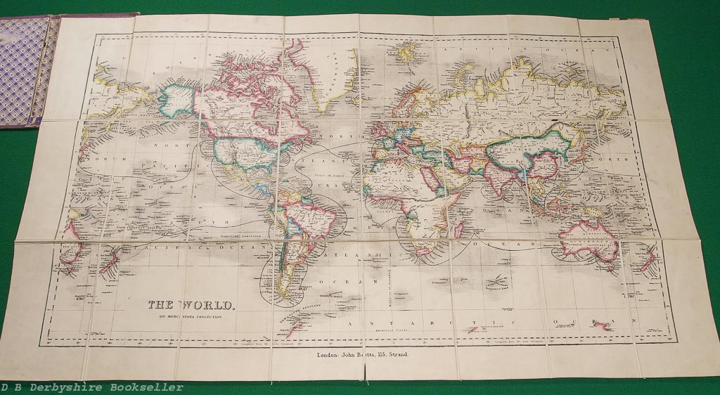 A Voyage Round the World Map | Published by John Betts | circa 1840s/50s