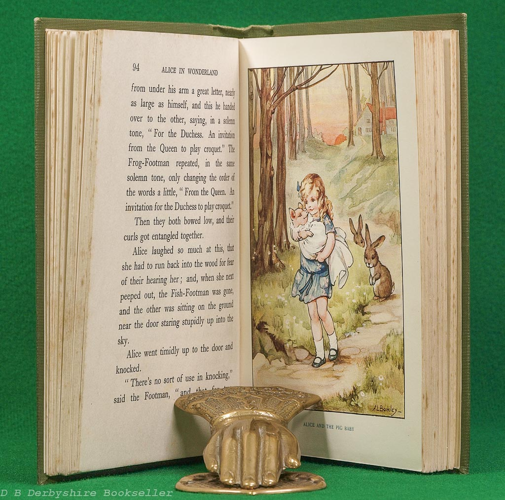Alice in Wonderland | Lewis Carroll | Raphael Tuck, circa 1927 | illustrated by A. L. Bowley | Golden Treasury Library