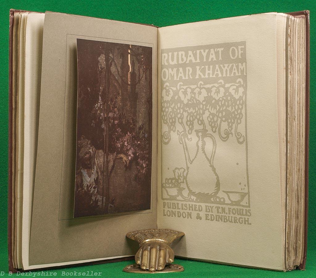 Rubaiyat of Omar Khayyam | T. N. Foulis, 1919 | illustrated by Frank Brangwyn