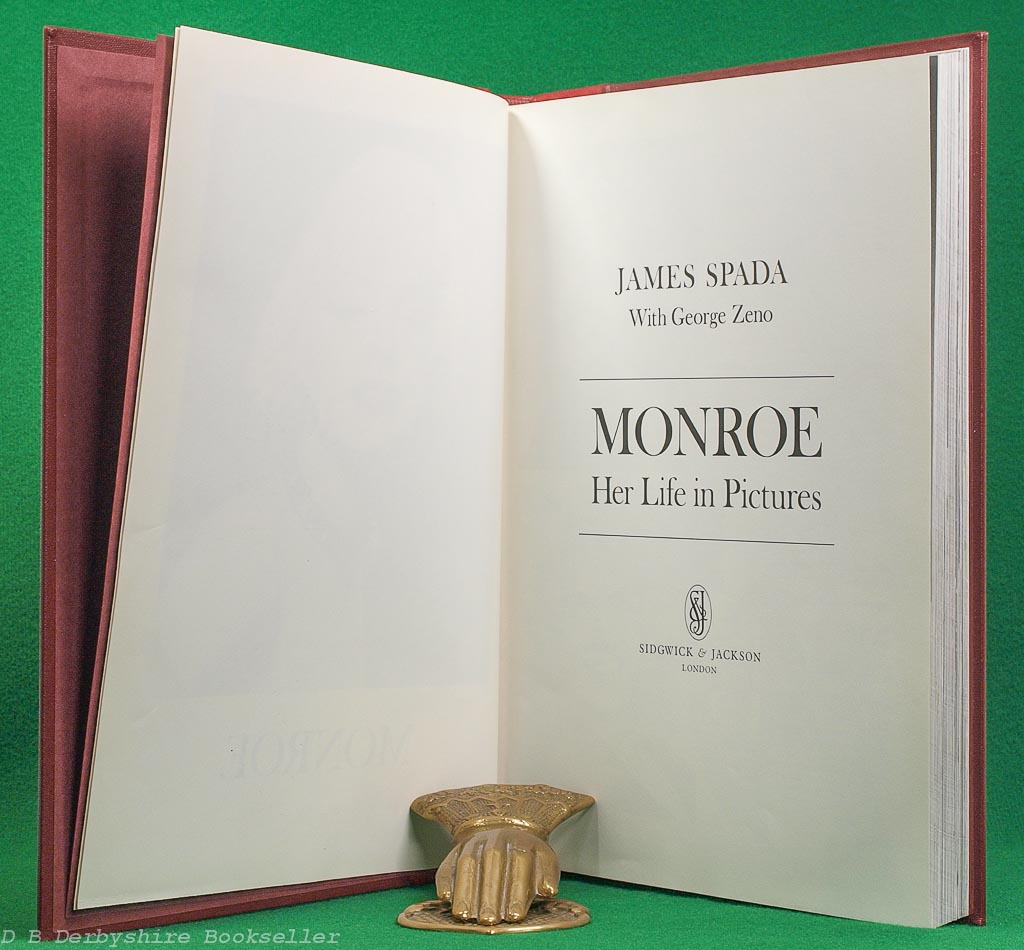 Monroe - Her Life in Pictures   James Spada and George Zeno   Sidgwick & Jackson, 1983   Quarter Leather Binding