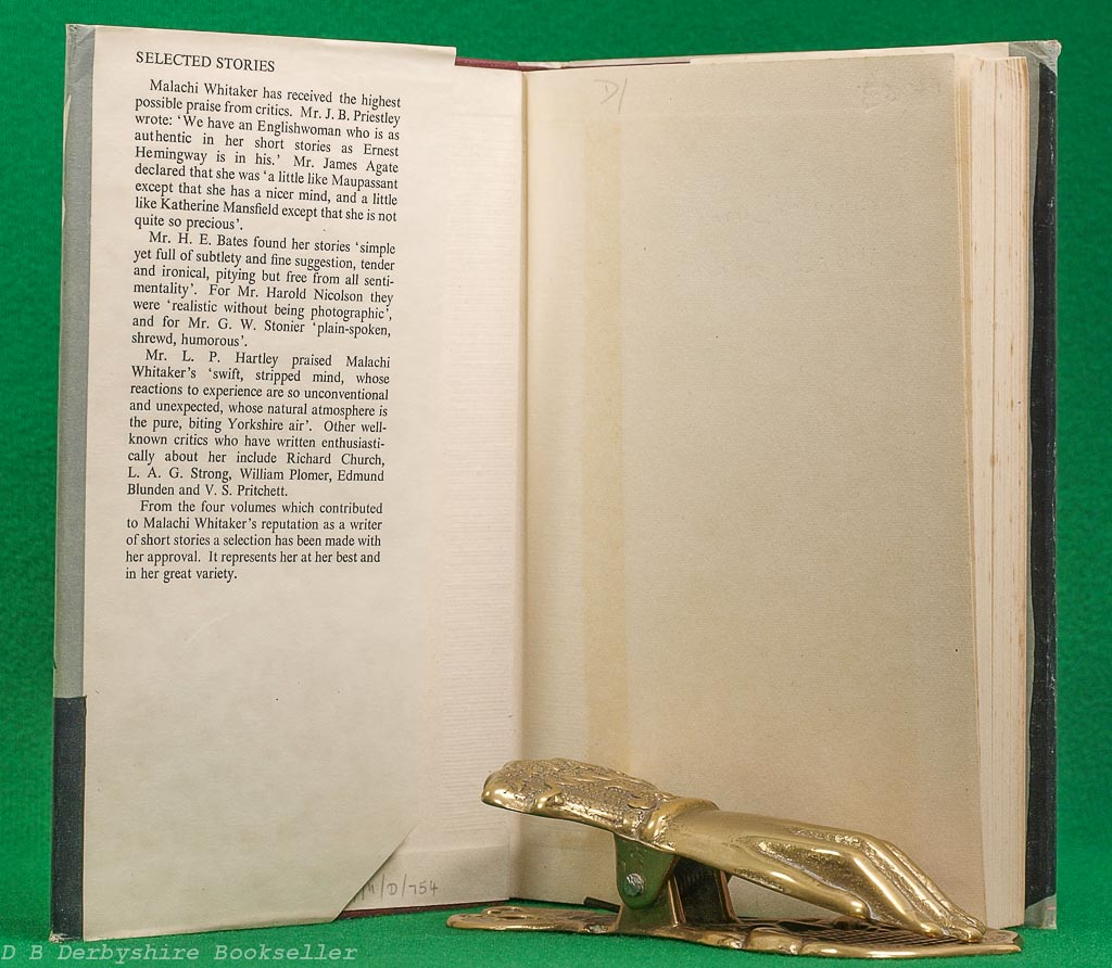 Selected Stories | Malachi Whitaker | Jonathan Cape, 1949