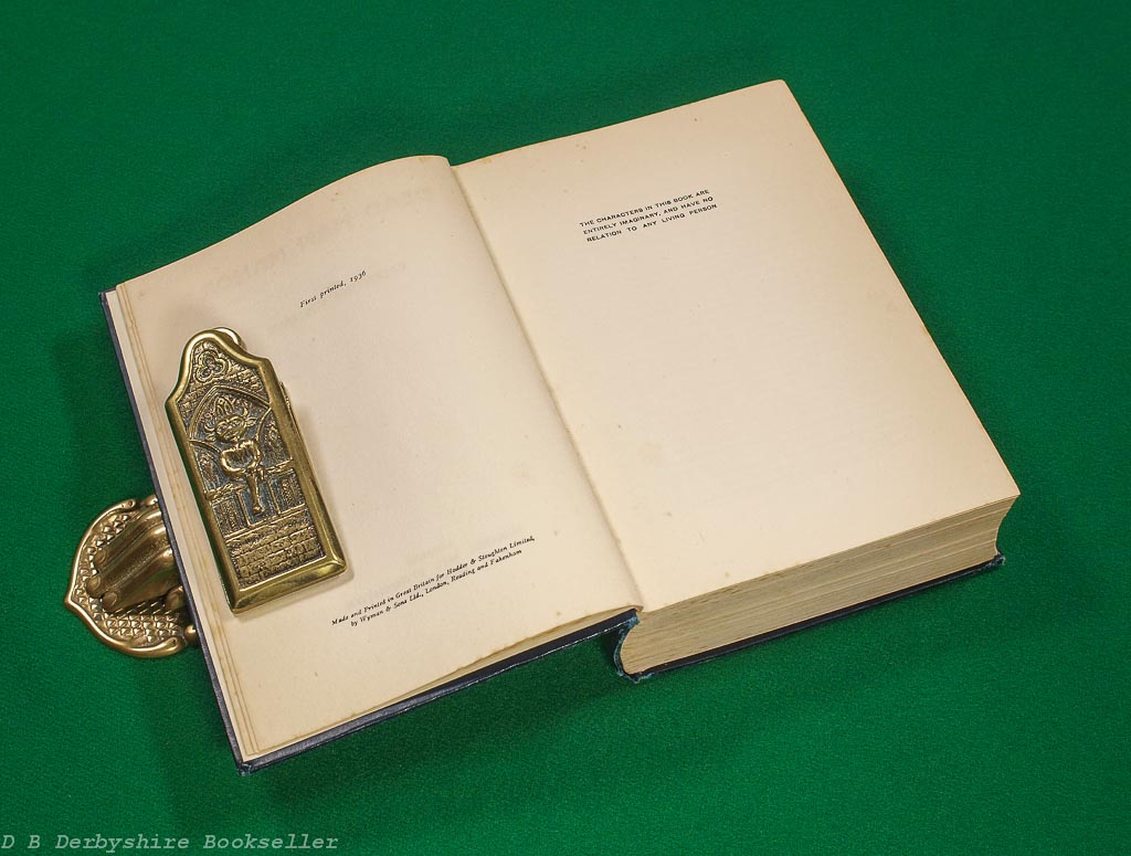 Dead Man Manor | Valentine Williams |Hodder and Stoughton, 1st edition 1936 | with dustwrapper