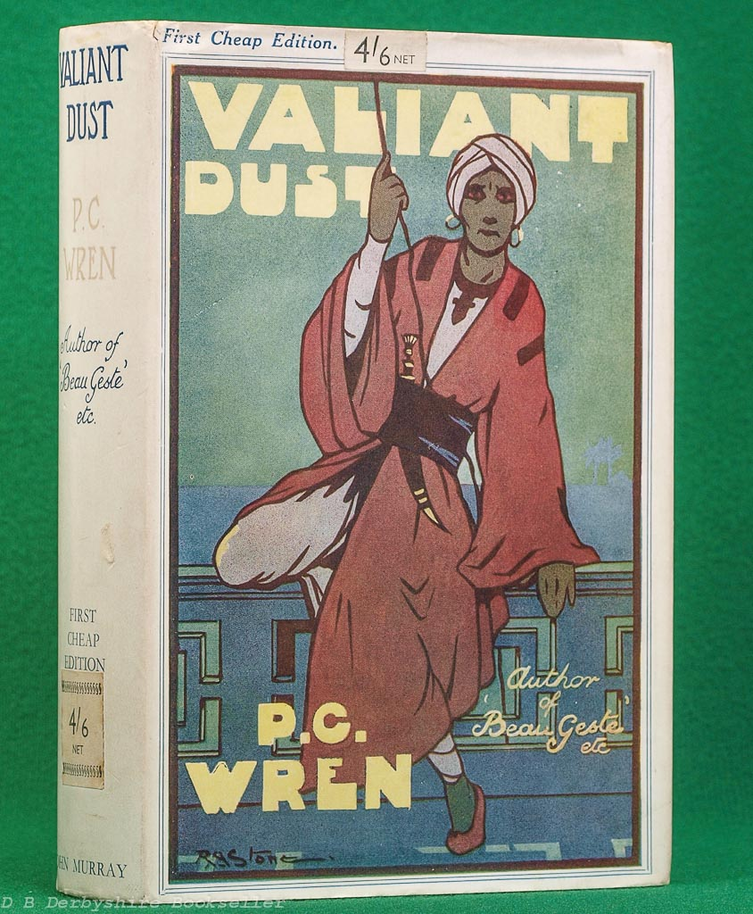 Valiant Dust by P. C. Wren (Murray, 1941) with dustwrapper