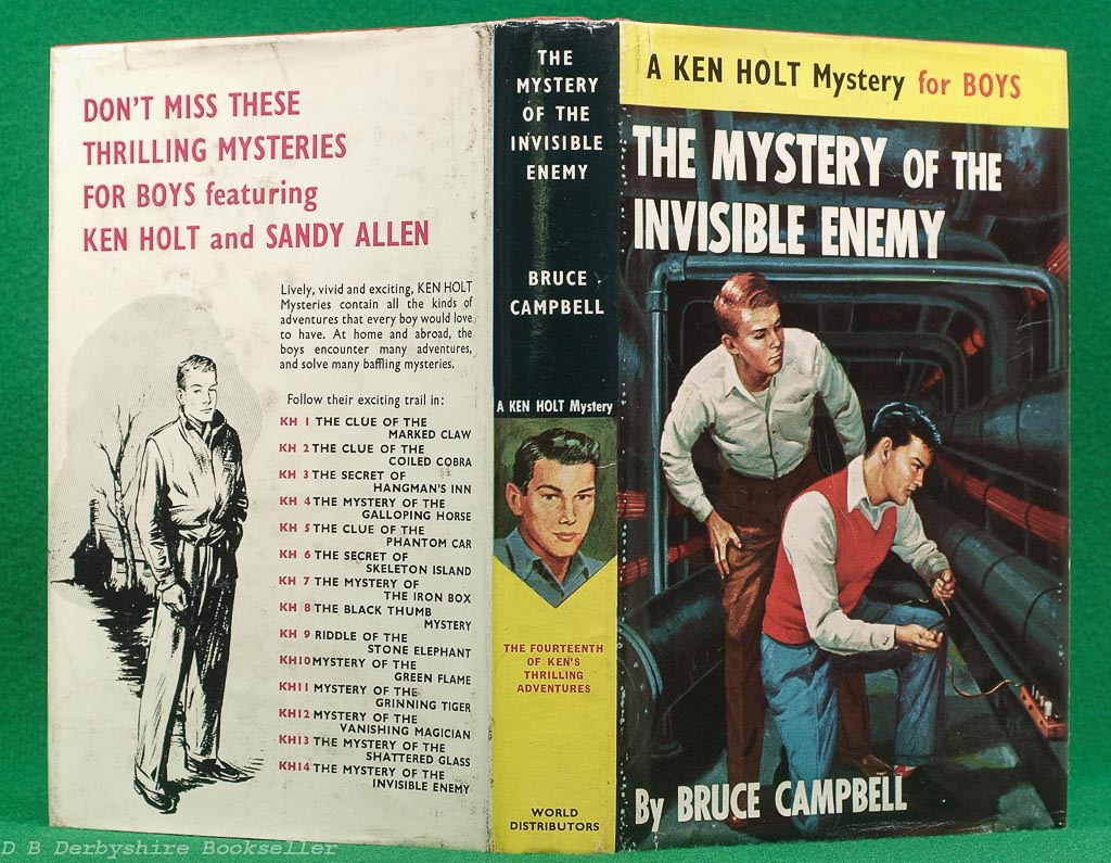 The Mystery of the Invisible Enemy | Bruce Campbell | World Distributors, 1959 | A Ken Holt Mystery for Boys