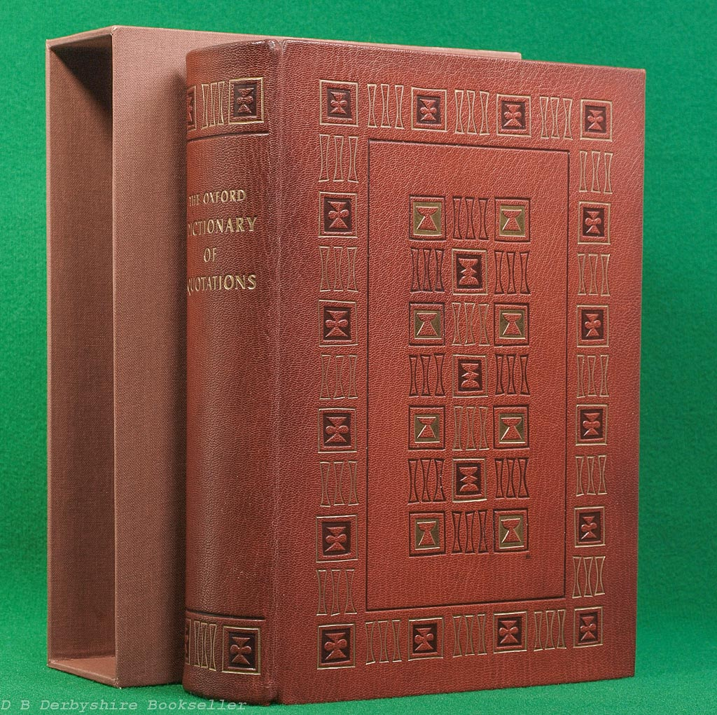 Oxford Dictionary of Quotations (Oxford Universirt Press, 1970) | Leather | Folio Society Special Binding