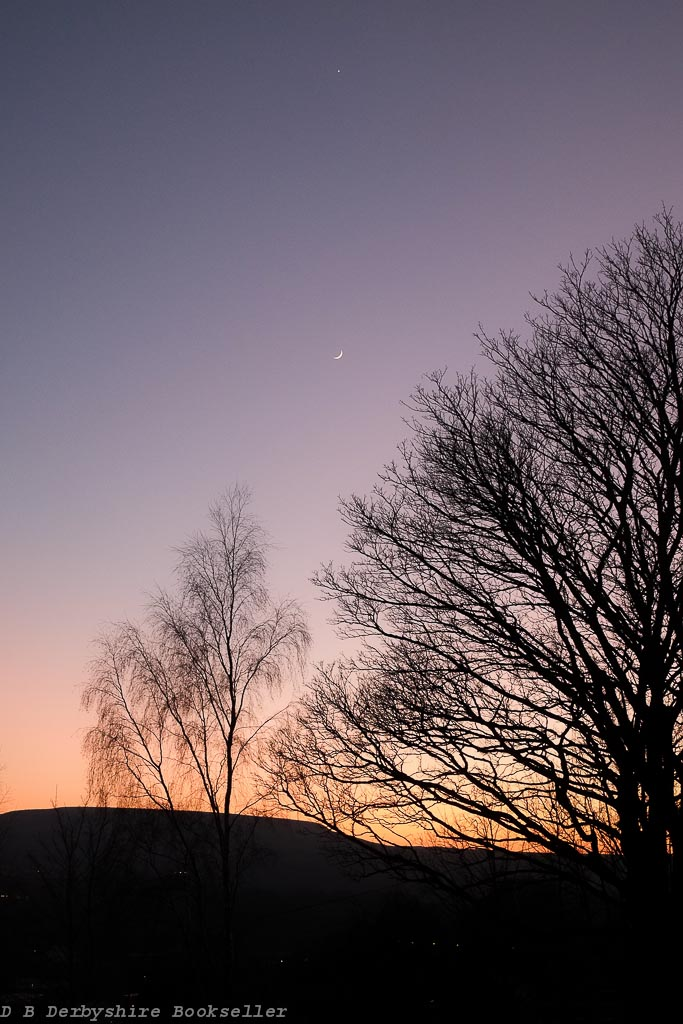Stacksteads Sunset | 27 March 2020 | Moon below Venus