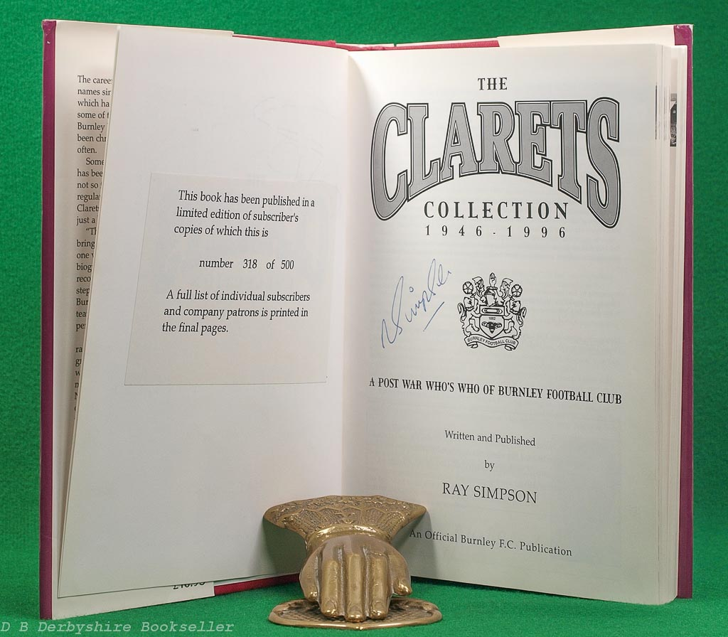 The Clarets Collection 1946 - 1996| Burnley Football Club | Signed by 27 Players