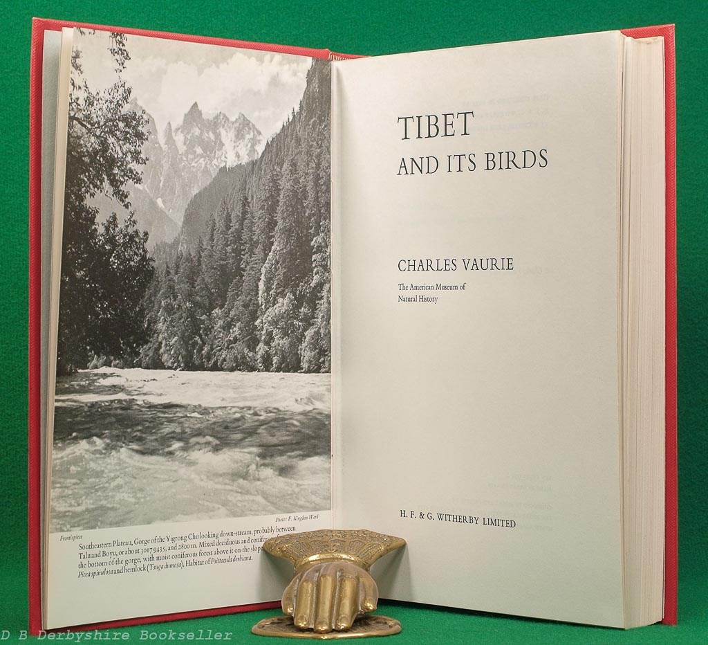 Tibet and its Birds   Charles Vaurie   Witherby, 1972