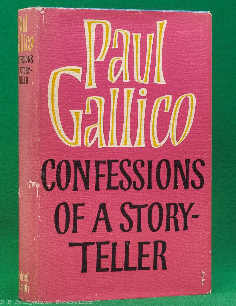 Confessions of a Story-Teller by Paul Gallico (1961) Signed