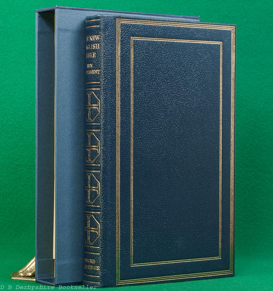 The New English Bible | New Testament | Oxford/Cambridge 1961 | Leather with Custom Slipcase