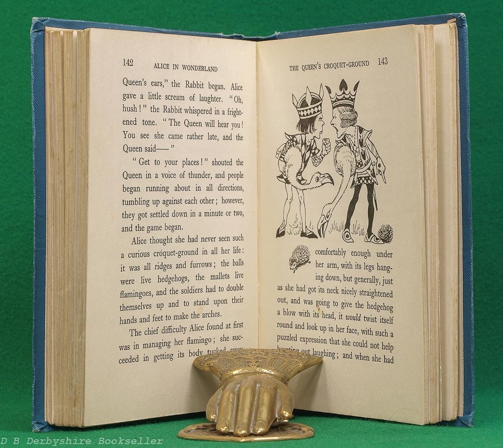 Alice in Wonderland by Lewis Carroll   Raphael Tuck, circa 1930   illustrated by A. L. Bowley   Golden Treasury Library