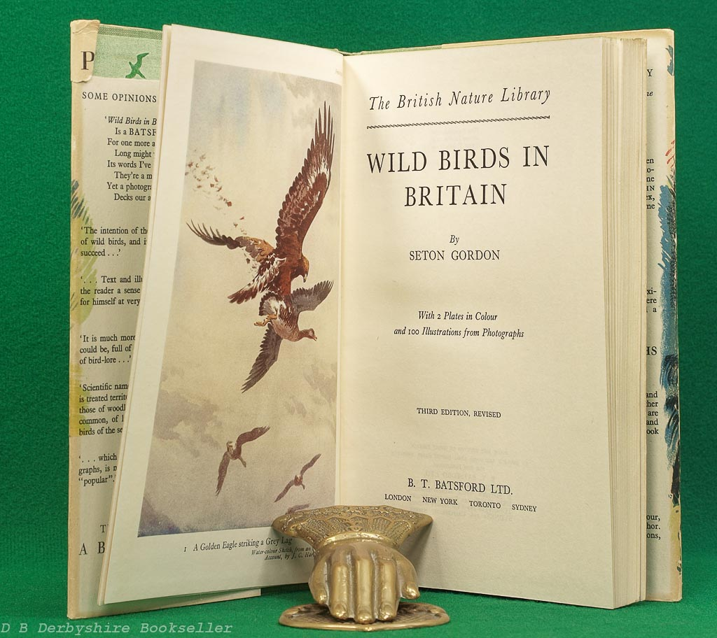Wild Birds in Britain | Seton Gordon | Batsford, 3rd edition 1949 | John Nash dustwrapper