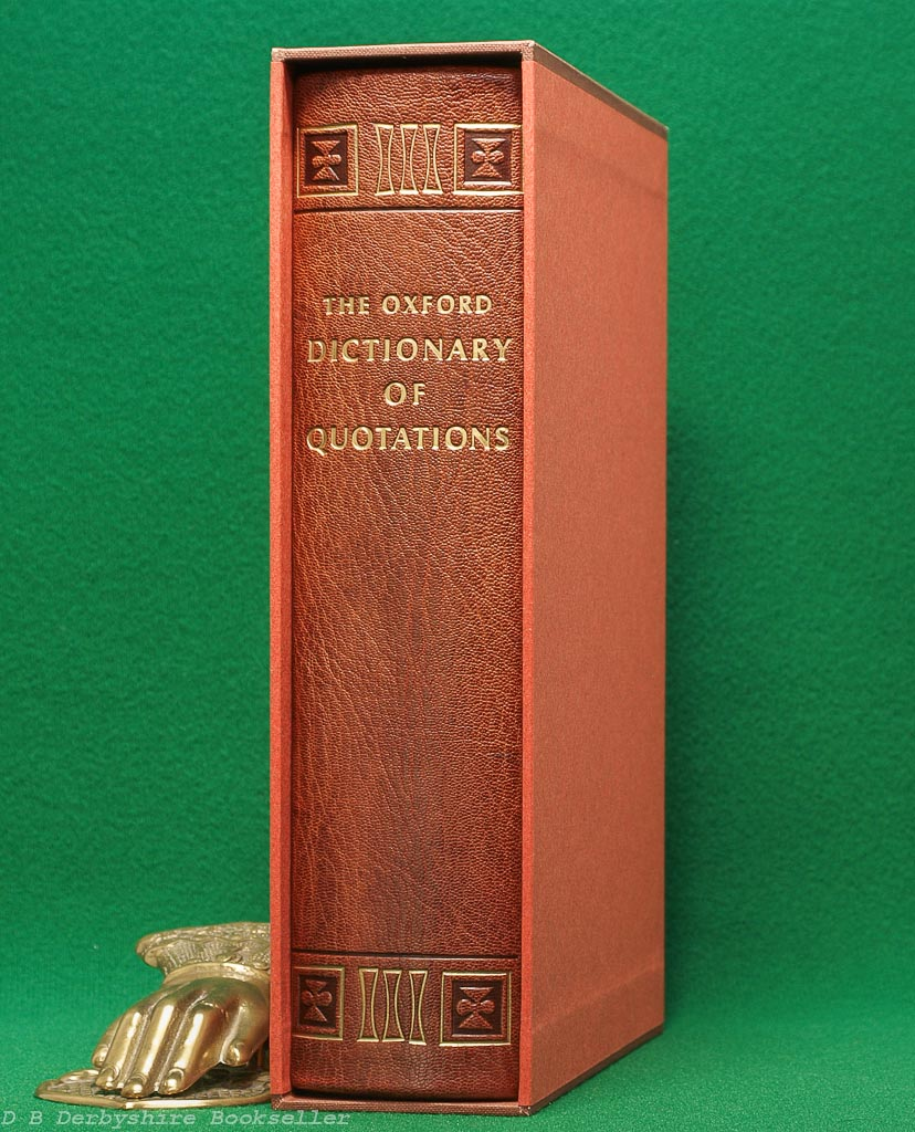 The Oxford Dictionary of Quotations | OUP, reprint 1970 | The Folio Society | Special Publication | Leather Binding