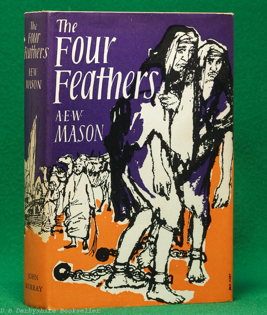 The Four Feathers by A. E. W. Mason (John Murray, 1965) | Dick Hart dustwrapper