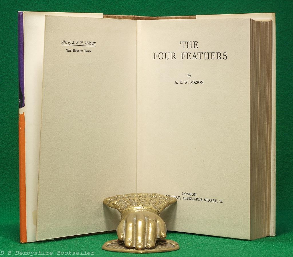 The Four Feathers | A. E. W. Mason John Murray, reprint 1965 | dustwrapper by Dick Hart