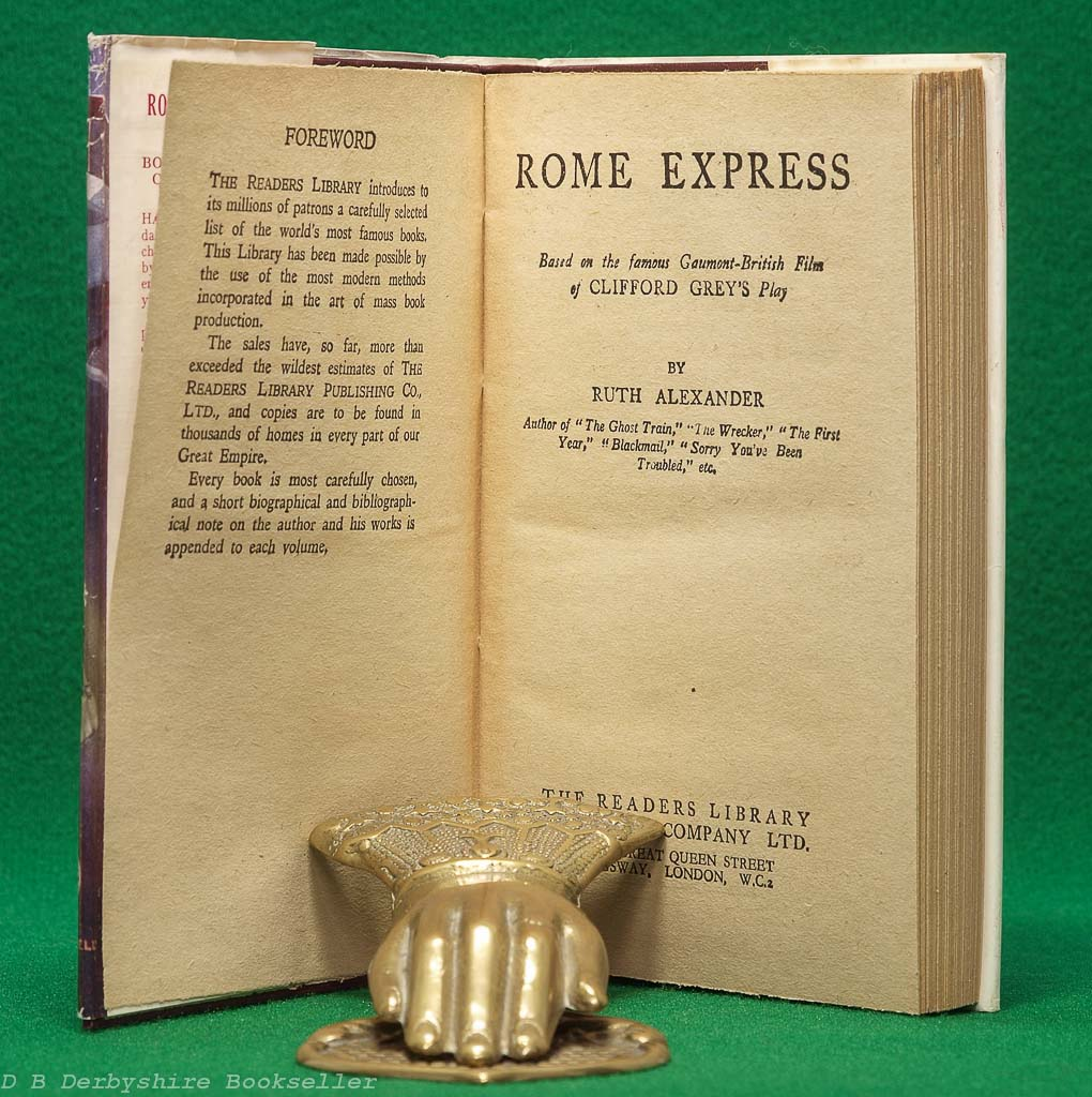 The Rome Express | Ruth Alexander and Clifford Grey | Readers Library, circa 1932/33
